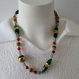 Fantastic Murano Multi-color Glass Necklace